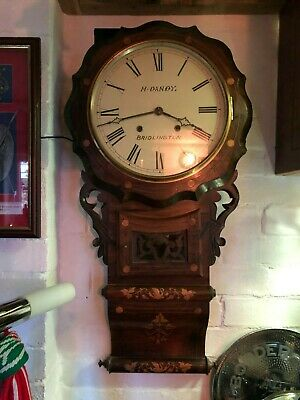 Antique Victorian American Drop Dial Wall Clock working