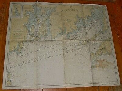Old Working 1937 Nautical Chart Martha's Vineyard to Block Island USC &GS