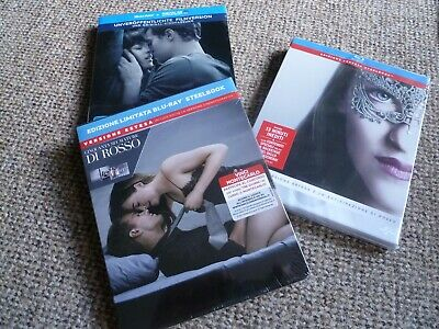 Fifty Shades of Grey 1-3 - Blu-ray Steelbook's - NEW/SEALED - All Regions: ABC