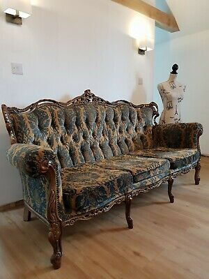 Vintage Ornate French Style Reproduction Settee Sofa Chair Wedding Shop Antique