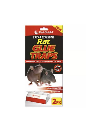 Rat Glue Trap 2pc PestShield For Effective Safe Control Of Mise Extra Strength