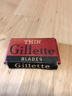 Vintage Thin Gillette Blades Unopened 4 Safety Razor Blades