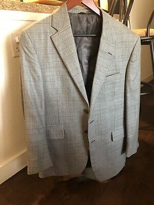 Latest Collection Of Jos A Bank Travelers Charcoal Gray Glen Plaid Sport Jacket Men Size 40r 2b2v The Latest Fashion Coats & Jackets