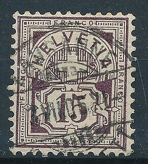 [31513] Switzerland 1905/07 Good stamp with silk Very Fine used