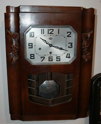 Carillon Odo 30 6 tiges 8 marteaux French chime clock vintage