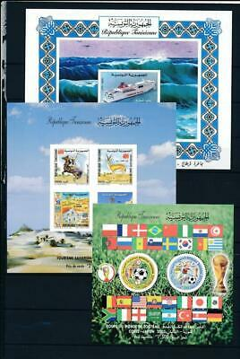 [G119398] Tunisia After 2000 3 good Sheets very fine MNH