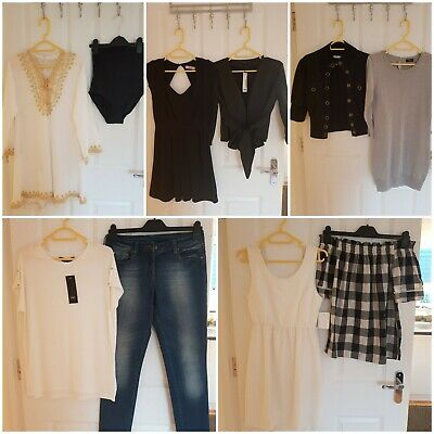 Ladies Clothing Bundle Size 8 - Jeans, Dresses, Jackets, Tops. *SOME WITH TAGS*