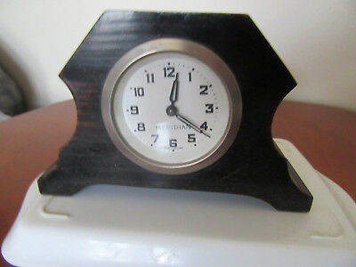 MERIDIAN,Mantle clock,old fashioned ,solid wood housing,spares / repair