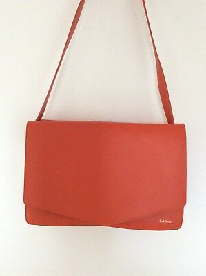 ff26efe3d955 Designer Paul Smith Orange Leather Concertina Shoulder Bag Bnwt Rrp £595
