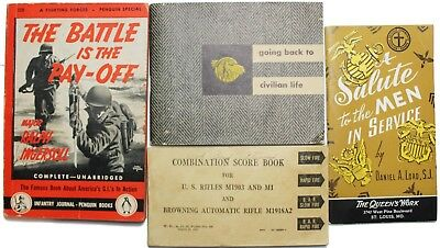 Original US WWII GI's Booklet Group