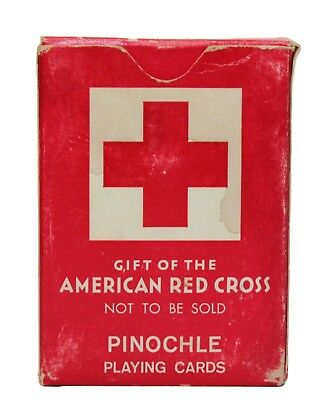 Original US WWII ARC American Red Cross Donated GI Playing Cards