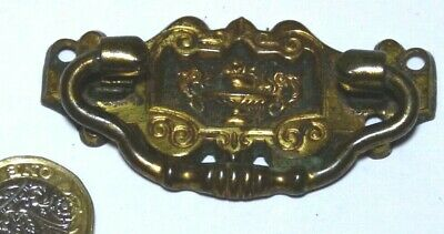 1 x DECORATIVE PRESSED BRASS EDWARDIAN CHEST/DRAWER HANDLE