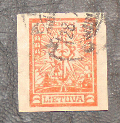 Lithuania.  1923, Mi.214 U imperforate, used, I have never seen !!!