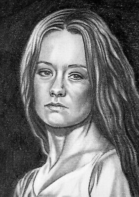 ORIGINAL ACEO sketch card LORD OF THE RINGS Miranda Otto EOWYN