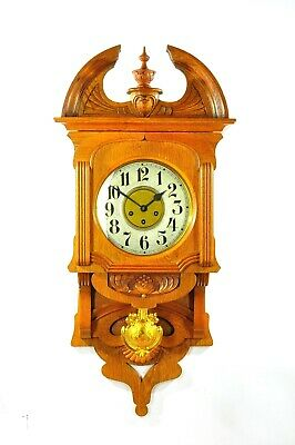 Gorgeous Antique German Junghans Free Swinger Wall Clock Westminster approx1920