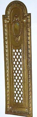 Pair Antique Pressed Brass Fancy Door Finger Plate