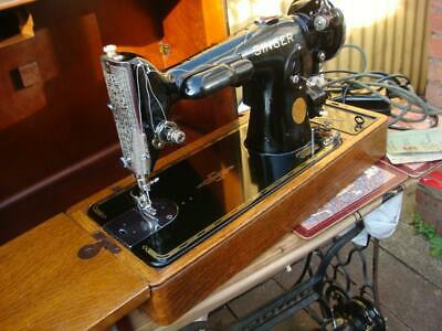 Vintage Old Antique Electric Singer Sewing Machine  201K Model * See Video *