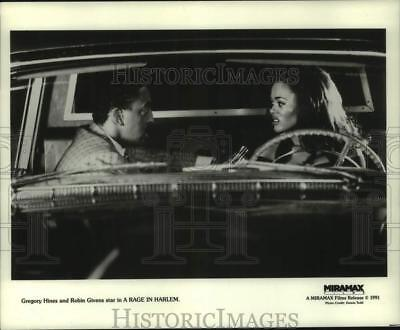 1991 Press Photo Gregory Hines and Robin Givens star in A Rage In Harlem