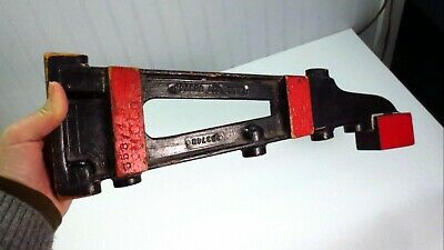 Antique Wooden Industrial Foundry Pattern M.C. Co. Gage Gauge Bar Mold Folk Art