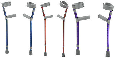 Drive Medical Pediatric Forearm Crutches CHOOSE FROM 3 COLORS & SIZES