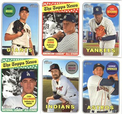 2018 Topps Heritage Baseball Base Set Sp Cards Choose From Card S 251 500