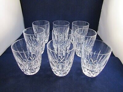 Waterford Crystal Set Of 9 Kildare 5 oz Whiskey Tumblers Glasses