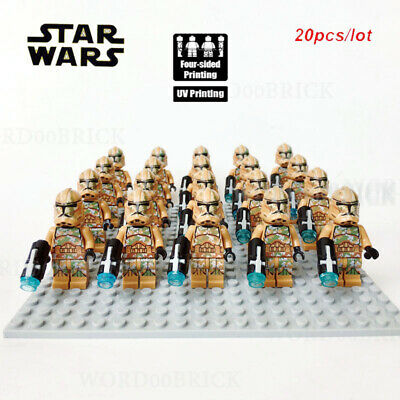 20PCS LOT OF MINIFIGURES STAR WARS Clone Trooper Printd lego minifigure costum