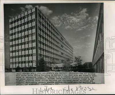 1964 Press Photo New Hill Farms State Office Building in Madison, Wisconsin