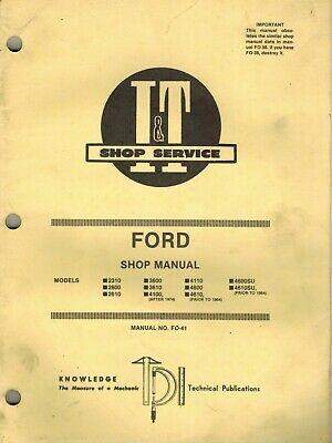 ford 2310 to 4610su (see picture 2 for all model)tractor i+t