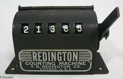 Vintage Redington Counting Machine working printing press paper counter