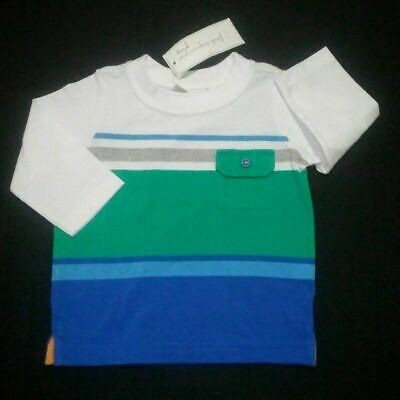 First Impressions Baby Boys Long Sleeve Pocket T-Shirt Size 3-6m 12m
