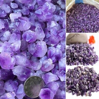 1 pack Natural Mini Amethyst Point Quartz Crystal Stone Rock Chips Lucky Healing