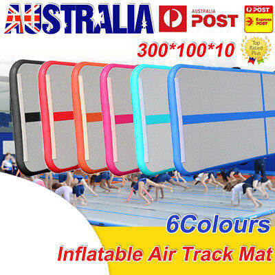 3M Airtrack Inflatable Air Track Floor Home Gymnastics Tumbling Mat GYM