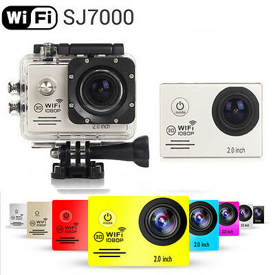 "Sliver SJ7000 12MP Full HD 1080P 2.0""  WiFi Sport Helmet Cam Camera as SJ6000"
