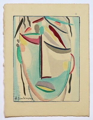 ALEXEY JAWLENSKY Curious drawing painting.