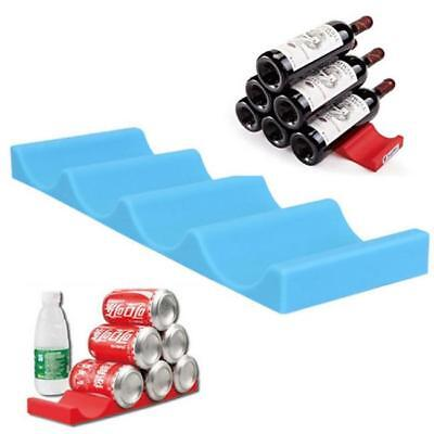 Silicon Fridge Beer Wine Bottle Rack Organizer Holder Mat Stacking Tidy Tool AL