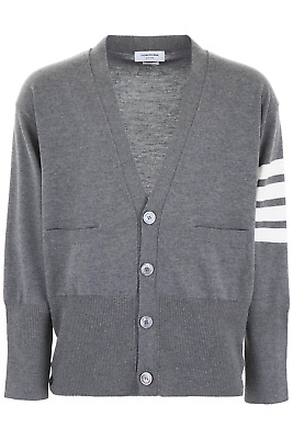 GENUINE THOM BROWNE Striped Zip up Cotton Jacket Hoodie 3 - Blue NEW ... 5fad9103a908