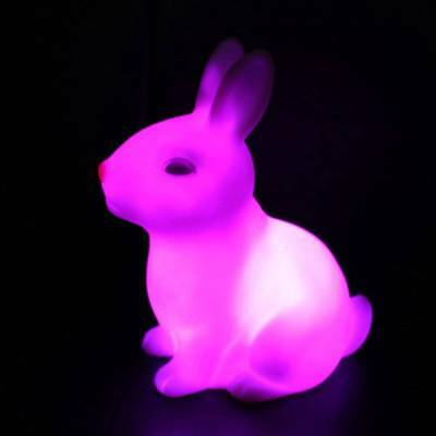 Lovely Color Changing LED Lamp Night Light Rabbit Shape Party Decor Gift Home