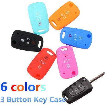 Silicone Remote Key Fob Shell Case Cover Holder For Hyundai Elantra Accent i20