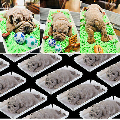 Baking Mould 3D Silicone Dog Shape Cake Soap Chocolate Jelly Candy Mold HZ