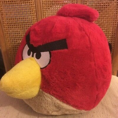 Angry Birds Movie Red Plush Bird 12x10 Inch Stuffed Animal By Rovio