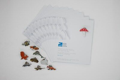 RSPB Wedding Favour |  Wildlife pins & bespoke card | Mixed pack of 10 [01339]