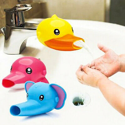 Animals Faucet Extender Kids Happy Fun Tubs Baby Hand Washing Bathroom Sink