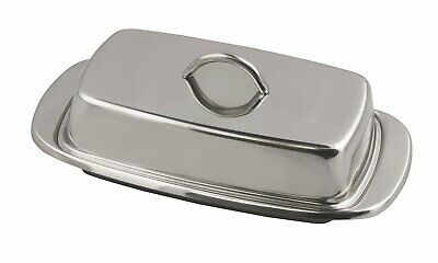"Fox Run 6510 Classic Stainless Steel Butter Dish, Kitchen Dining, 2.75""x7.5""x4"""