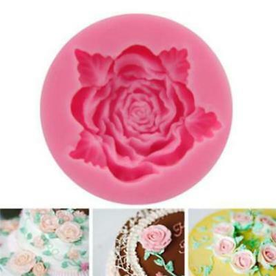 Silicone 3D Rose Fondant Cake Mold Chocolate Decor Tools Sugarcraft Flower Mold