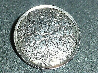 Superb Victorian Aesthetic Movement Engraved Silver Brooch, c1890