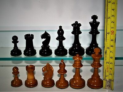 """Rare antique, vintage, loaded, (very early LARDY?) Chess Set (K=70mm/ 2 3/4"""") ."""