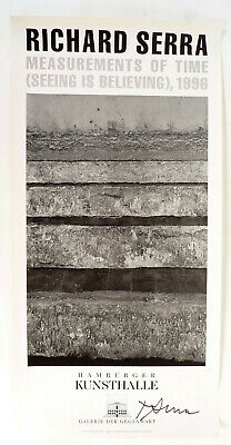 Richard Serra, Measurements of Time 1996, original signiert, signed.