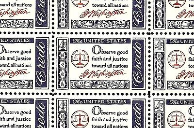 1960 - CREDO-WASHINGTON - #1139 Full Mint -MNH- Sheet of 50 Postage Stamps