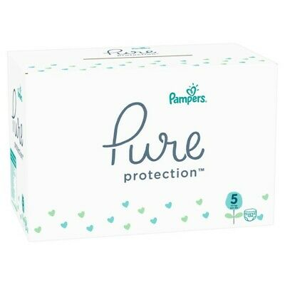 Pampers Pure Protection Gr. 5 Junior 11+ kg MonatsBox, 132 Stück